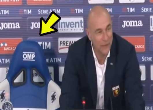 Técnico do Genoa Ballardini cadeira Sampdoria