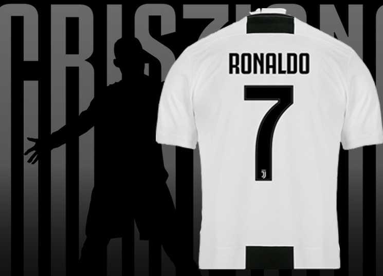 Camisas de Cristiano Ronaldo na Juventus