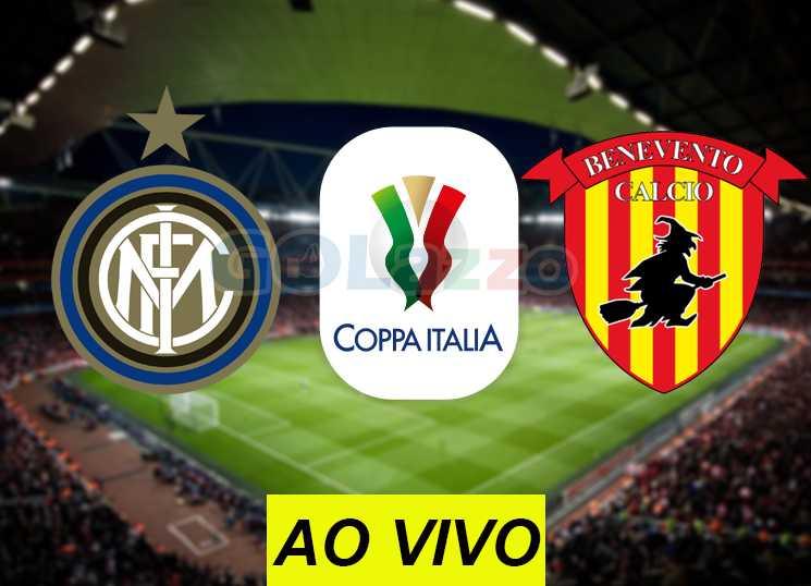assistir inter x benevento ao vivo online copa itália