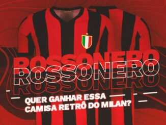 camisa retrô do milan